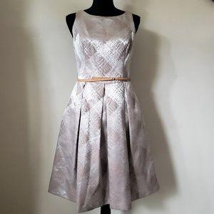 Pleated Kasper Dress